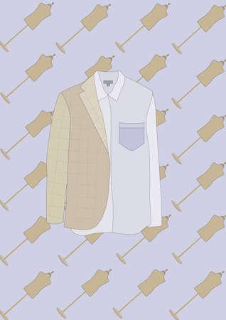 shirt and blazer Illustration