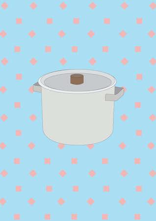 pot with lid Illustration