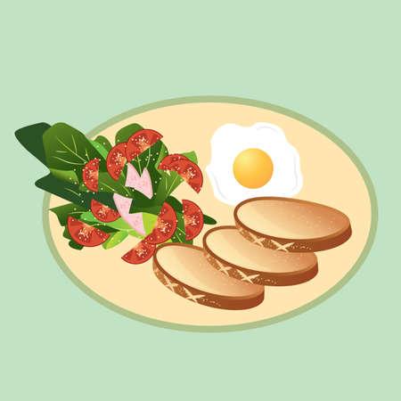 breakfast Иллюстрация