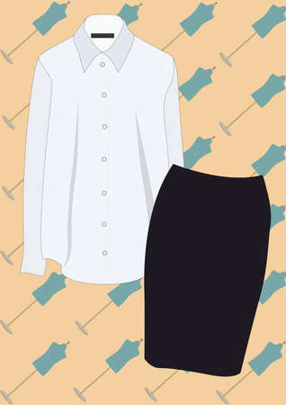 blouse and skirt Illustration