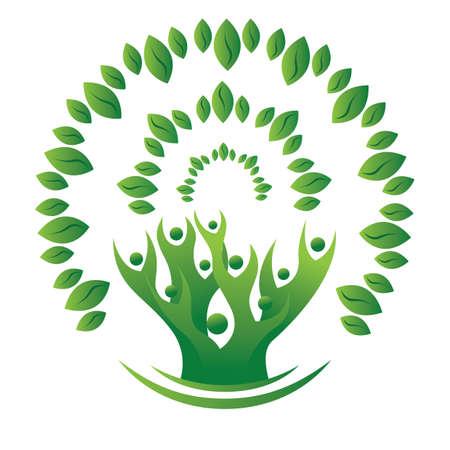 ecology tree concept Illusztráció