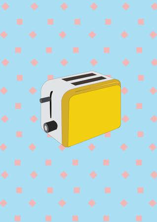 パン トースター  イラスト・ベクター素材
