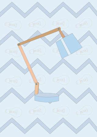 テーブル ランプ  イラスト・ベクター素材