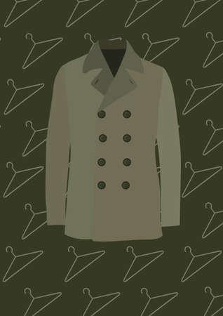 trench coat Illustration