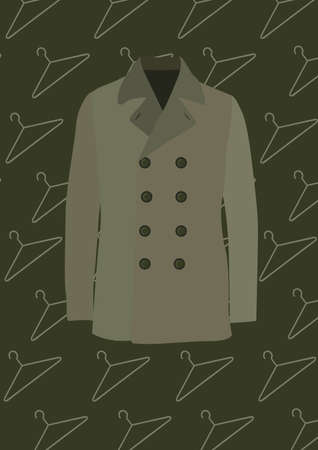 hangers: trench coat Illustration