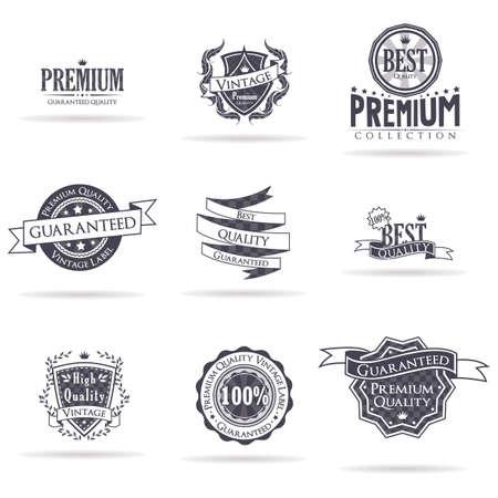Emblème de qualité premium vintage Banque d'images - 81537357