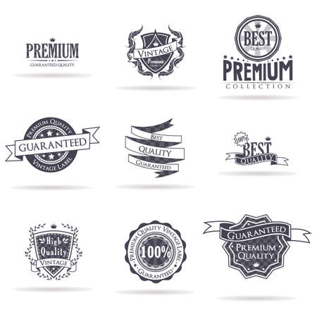 vintage premium quality emblem 向量圖像