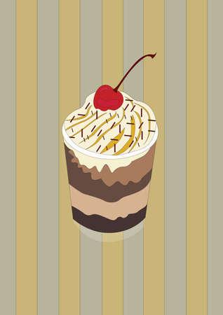 dessert in een beker