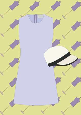 Vestido de mujer y sombrero Foto de archivo - 81537102