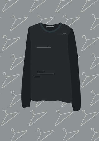 black long sleeved shirt
