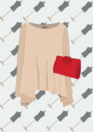 woman top with purse