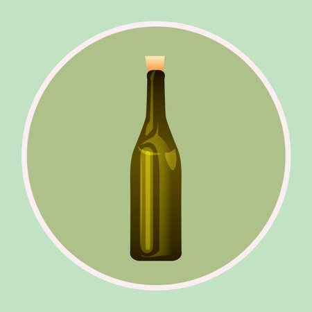 wine bottle Ilustrace