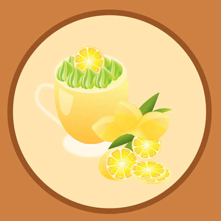 lemon juice Ilustrace