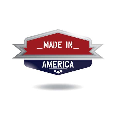 made in america label Stock Vector - 81486867