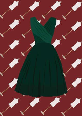 sukienka Ilustracje wektorowe
