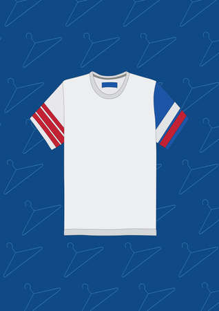white t shirt Illustration