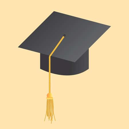 卒業の帽子  イラスト・ベクター素材