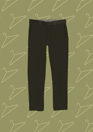 hangers: trousers Illustration