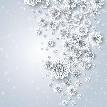 floral snowflakes design background 向量圖像
