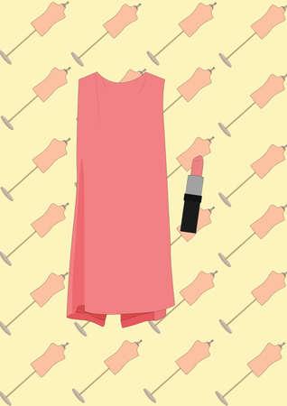 Robe et rouge à lèvres Banque d'images - 81537584