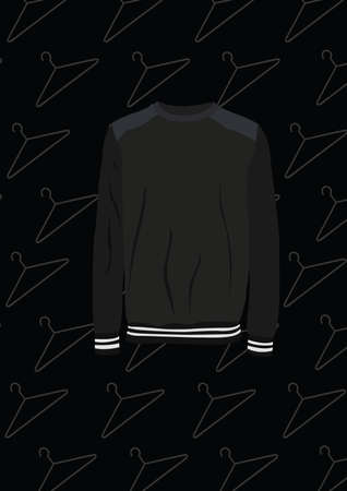 black long sleeve shirt Ilustrace