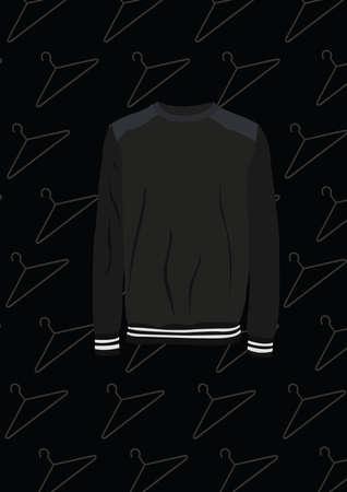 black long sleeve shirt Illusztráció