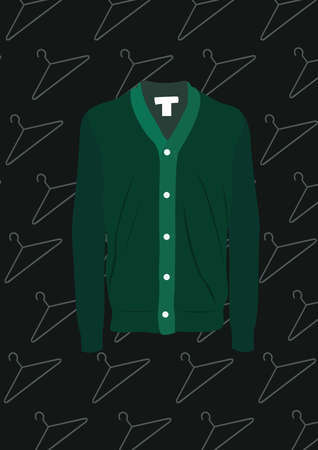 green shirt cardigan