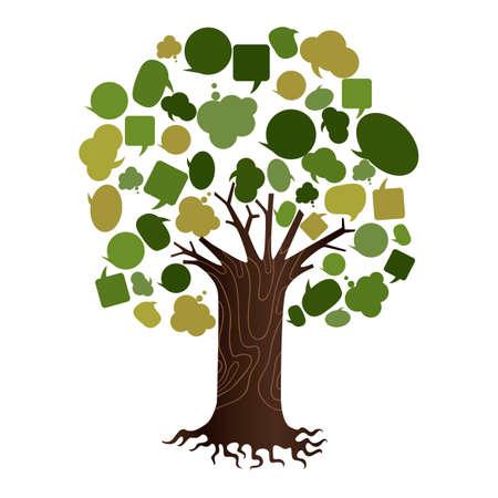 Baum der Sprechblasen Standard-Bild - 81537577