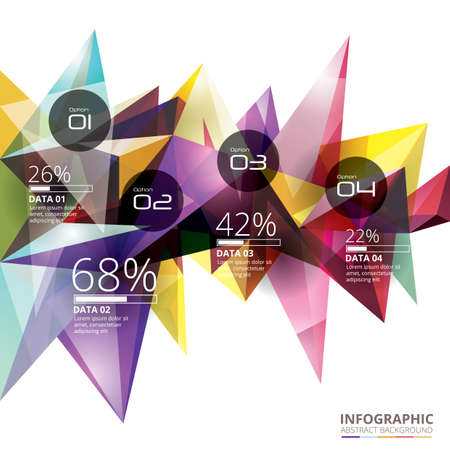 Abstract background infographic