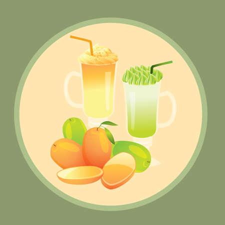 mango juice Illusztráció