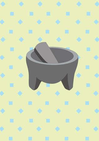 乳鉢と乳棒  イラスト・ベクター素材