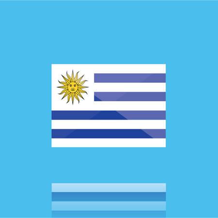 uruguay flag Иллюстрация