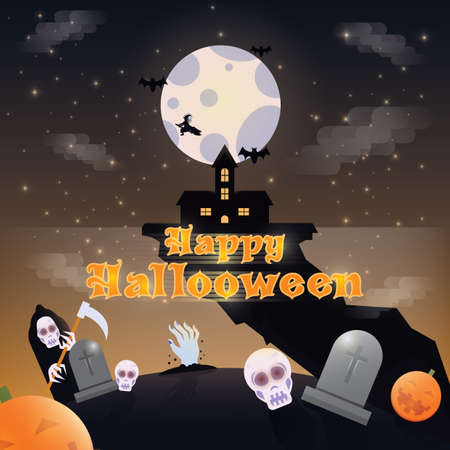 happy halloween card 向量圖像
