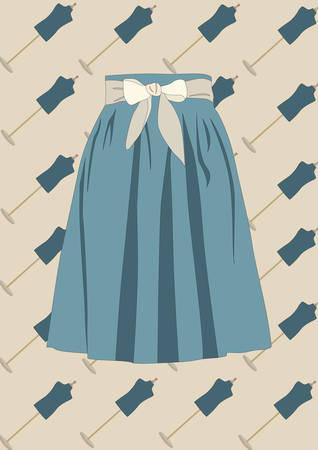 Spódnica Ilustracje wektorowe