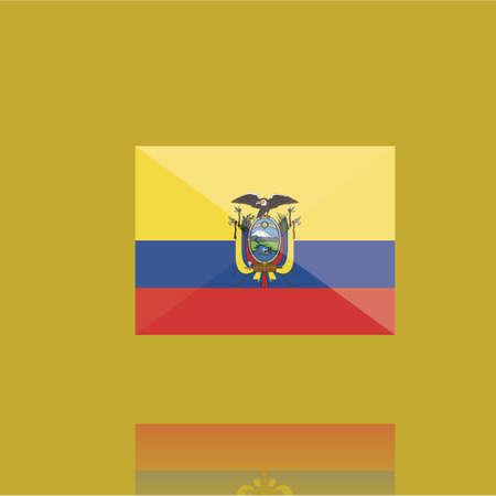 ecuador flag  イラスト・ベクター素材