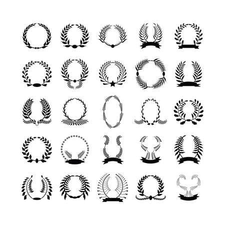 laurel wreaths collection Illustration