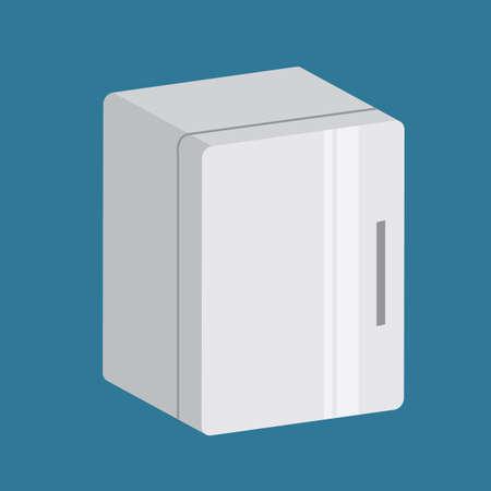 コンパクト冷蔵庫  イラスト・ベクター素材