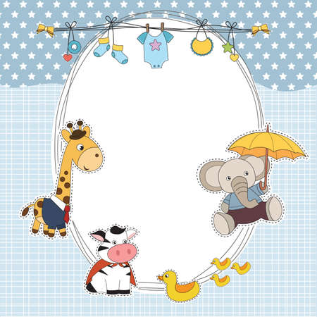 baby shower card Ilustração