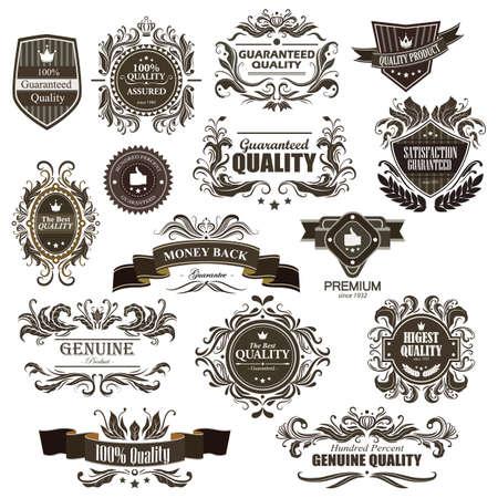 Emblème de qualité premium vintage Banque d'images - 81537610