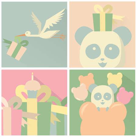 set of greeting cards Иллюстрация