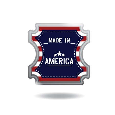 made in america label Illustration