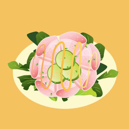 salade Stock Illustratie