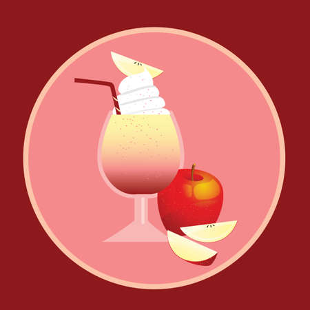 apple juice Ilustrace
