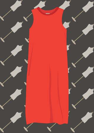 Robe rouge Banque d'images - 81537777