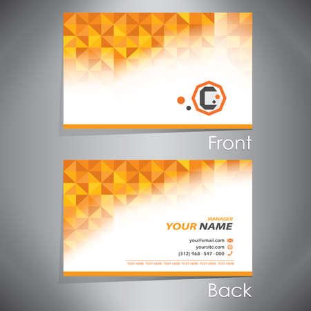 Modèle de carte de visite Banque d'images - 81537642