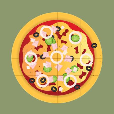 pizza Illusztráció