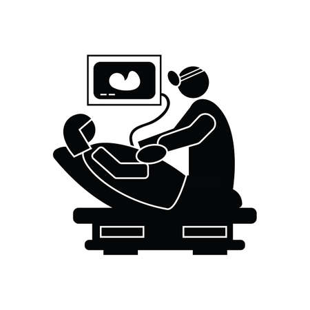 doctor doing a pregnancy scan