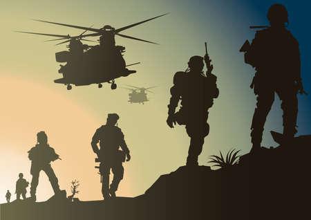 army in battlefield