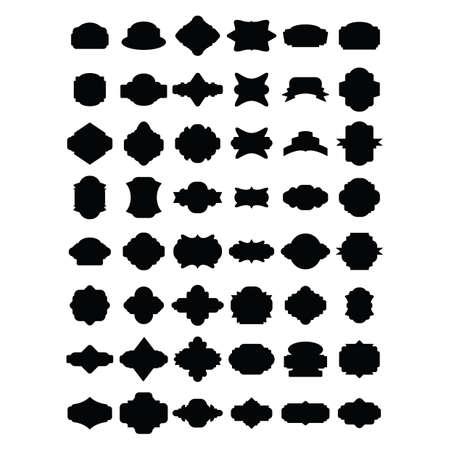 label silhouettes Vettoriali