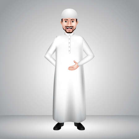 thawbs: middle eastern man with hand gesture